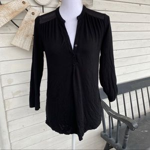 Cynthia Rowley | Black Blouse with Mesh Shoulders